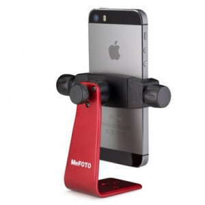 MeFoto Aluminum Phone Holder Red