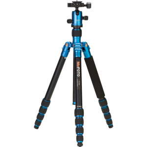 MeFOTO A1350Q1B RoadTrip Aluminum Travel Tripod Kit (Blue)​ ​