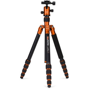 MeFOTO A1350Q1O RoadTrip Aluminum Travel Tripod Kit (Orange)