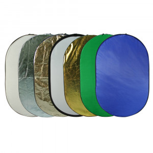 Godox Reflector Disc 7in1 Gold/Silver/Black/White/Diffuser/Green/Blue 120x180 cm